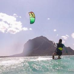 kite dans le lagon: flat!!